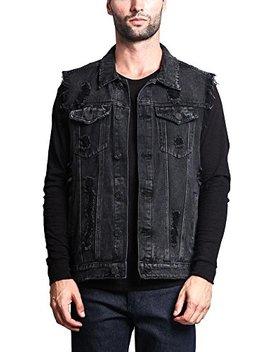 Victorious Rocker Denim Jean Vest by Victorious