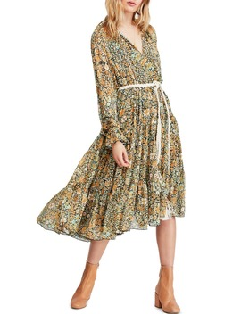 Feeling Groovy Long Sleeve Midi Dress by Free People