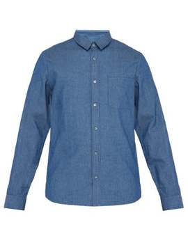 Georges Herringbone Cotton Chambray Shirt by A.P.C.