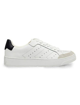 Hayley Leather Low Top Sneakers by Marc Fisher Ltd