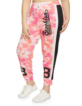 Plus Size Brooklyn Printed Joggers by Rainbow