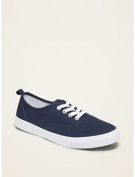 Twill Uniform Sneakers For Girls by Old Navy