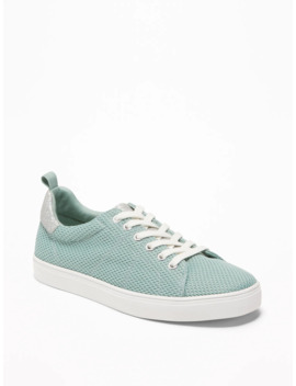 Pique Mesh Sneakers For Girls by Old Navy
