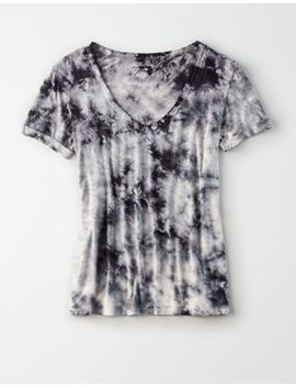 Ae Soft &Amp; Sexy Tie Dye V Neck T Shirt by American Eagle Outfitters