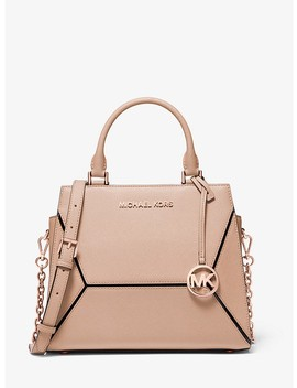 Prism Medium Saffiano Leather Satchel by Michael Michael Kors