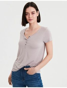 Ae Soft &Amp; Sexy Striped Jersey T Shirt by American Eagle Outfitters