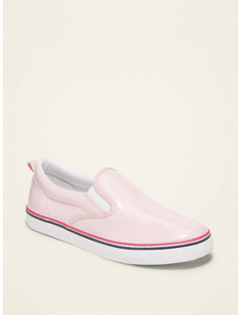 Faux Patent Slip Ons For Girls by Old Navy