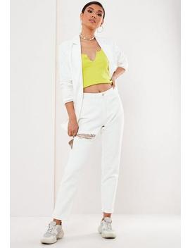 White Riot Ripped Mom Jeans by Missguided