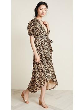 Leopard Wrap Dress by Valencia &Amp; Vine