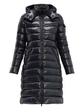 Moka Hooded Quilted Down Coat by Moncler
