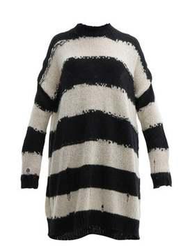 Distressed Stripe Wool Sweater Dress by Acne Studios