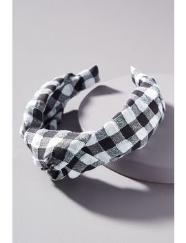 Gingham Knotted Headband by Anthropologie