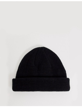 Asos Design Mini Fisherman Beanie In Black Recycled Polyester by Asos Design