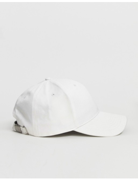 Asos Design Baseball Cap In White Canvas by Asos Design