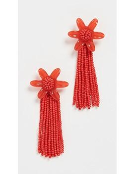 Beaded Tassel Flower Earrings by Madewell