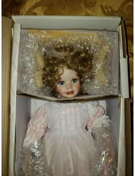 "Hamilton Collection Doll 16"" ""Christina"" By Laura Cobabe Porcelain In Box by The Hailton Collection"
