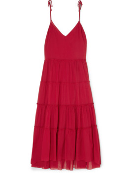 Nissi Ruffled Tiered Cotton Voile Maxi Dress by On The Island By Marios Schwab