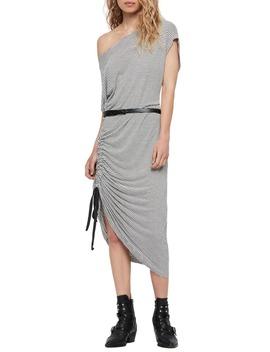 Brea Stripe Asymmetrical Dress by Allsaints