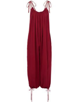 Yetzi Oversized Gathered Cotton Gauze Jumpsuit by Caravana