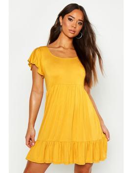 Jersey Frill Hem Babydoll Dress by Boohoo