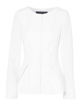 Rossini Draped Wool Crepe Jacket by Roland Mouret