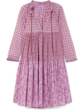 Tiered Printed Cotton Voile Dress by Yvonne S