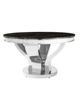 Anchorage Hollywood Glam Silver Dining Table by Coaster