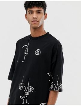 Camiseta Extragrande Con Estampado En Toda La Prenda De Asos Design by Asos Design