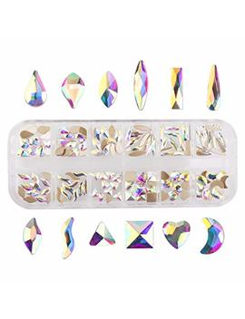 Nancybeads Crystal Ab Mixed Flat Back Crystal Rhinestones Gems For 3 D Nail Art Phone Diy Crafts (Crystal Ab Mixed 144pcs) by Nancybeads