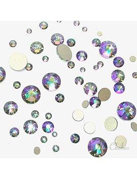 Swarovski Crystal Paradise Shine (001 Parsh) 144 Pcs 2058/2088 Crystal Flatbacks Rhinestones Nail Art Mixed With Sizes Ss5, Ss7, Ss9, Ss12, Ss16, Ss20, Ss30 by Crystal Wholesale