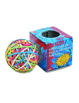 Acco 72155 Rubber Band Ball, Approximately 275 Rubber Bands, Assorted by Acco