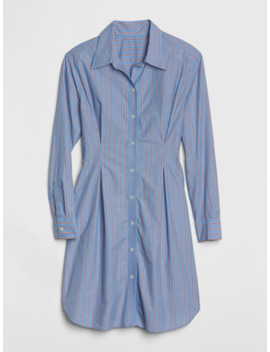 Pleated Stripe Shirtdress by Gap