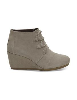 Desert Taupe Suede Women's Kala Booties by Toms