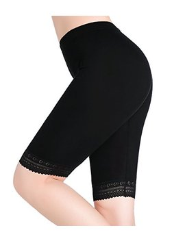 Cnlan Row Womens Under Skirt Pants Soft Stretch Knee Length Leggings Lace Shorts For Women by Cnlan Row