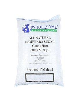 Wholesome Sweeteners Natural Demerara Sugar, 50 Lb, Single Unit by Billington's Unrefined Sugars