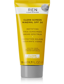 Clean Screen Mineral Mattifying Face Sunscreen Spf30, 50ml by Ren Clean Skincare