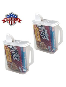 Food Storage Container Flour Sugar In Bag Keep 2 Pack Food Storage Container 6 Qt Flour Sugar Keeper Pour N' Store With Handle by Buddeez