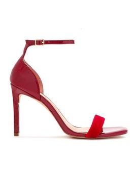 Myra Velvet And Patent Leather Sandals by Halston Heritage
