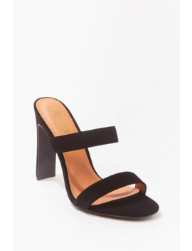Caged Open Toe Heels by Forever 21