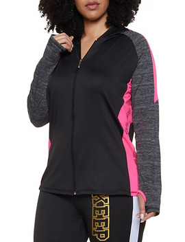 Plus Size Keep Going Color Block Activewear Top by Rainbow