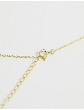 Asos Design Curve Sterling Silver With Gold Plate Necklace With Etched Disc Pendant by Asos Design