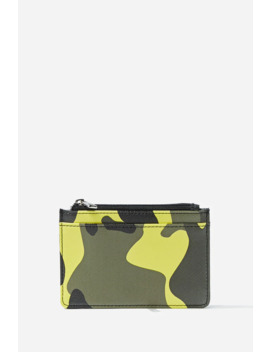 Faux Leather Camo Cardholder by Forever 21