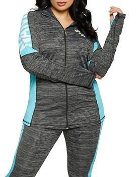 Plus Size Namaslay Graphic Marled Sweatshirt by Rainbow