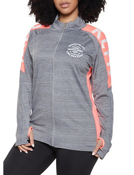 Plus Size Brooklyn Graphic Activewear Sweatshirt by Rainbow