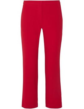 Cropped Crepe Straight Leg Pants by Altuzarra
