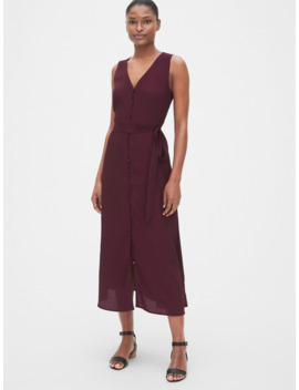 Sleeveless Maxi Shirtdress by Gap