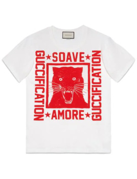 Playera Con Estampado Soave Amore Guccification by Gucci