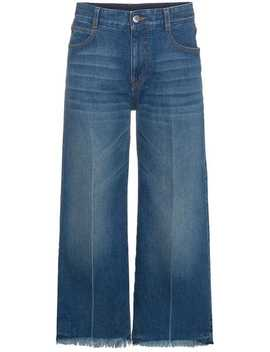 Cropped Wide Leg Jeans by Stella Mc Cartney