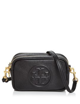 Perry Bombe Mini Leather Crossbody by Tory Burch