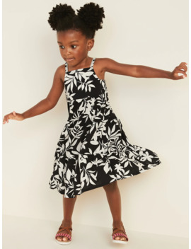 Tiered Floral Print Maxi Sun Dress For Toddler Girls by Old Navy